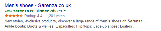 Trusted Shops RichSnippets Example
